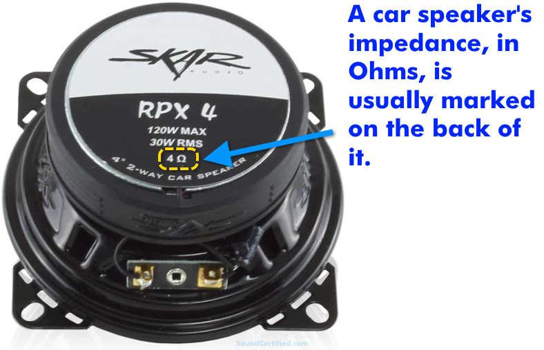 Car speaker impedance example
