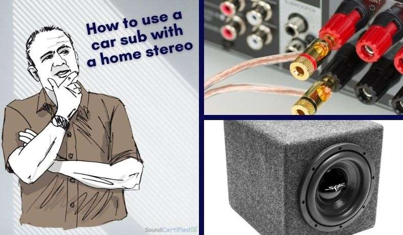 how to hook up a car subwoofer to a home stereo  diagrams