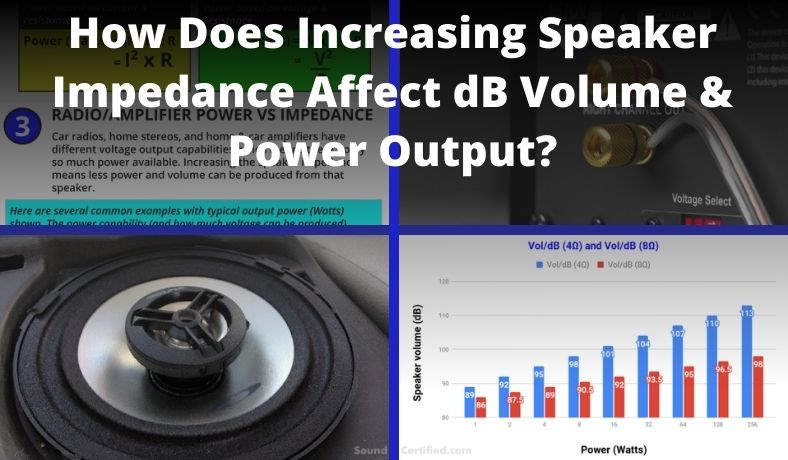 How does increasing speaker impedance affect dB output featured image