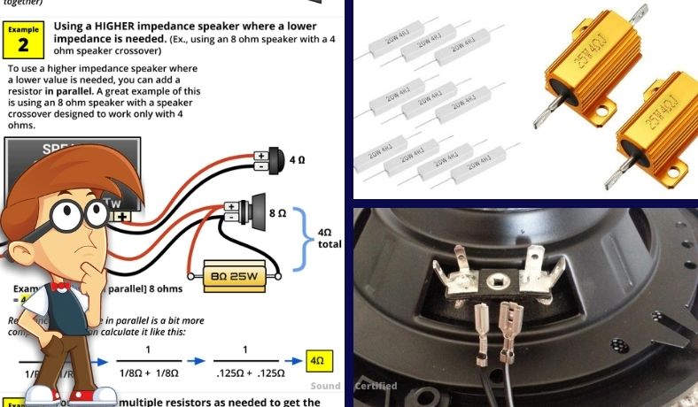 How to add a resistor to a speaker to change impedance featured image