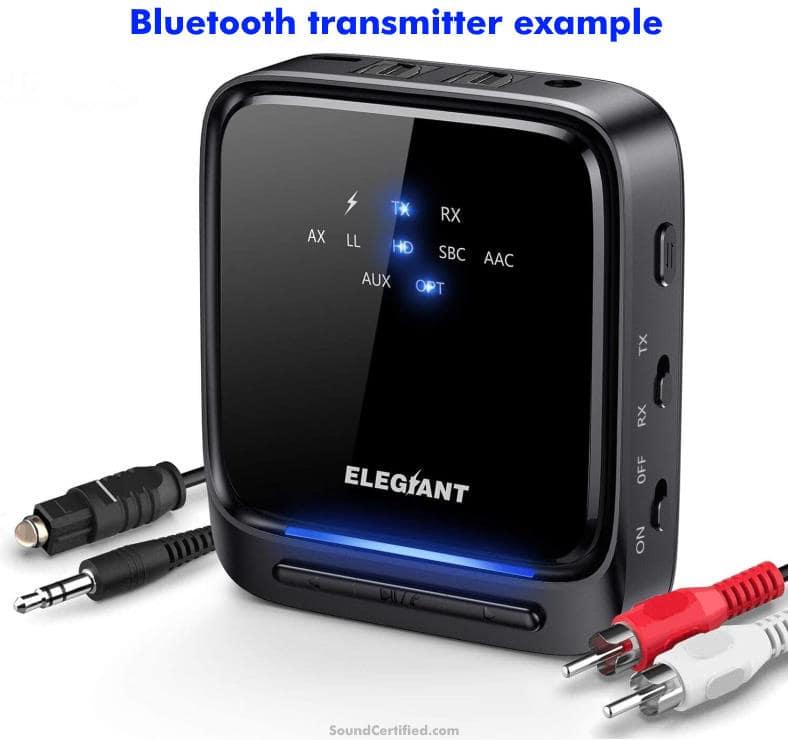 bluetooth transmitter for wireless TV speaker example