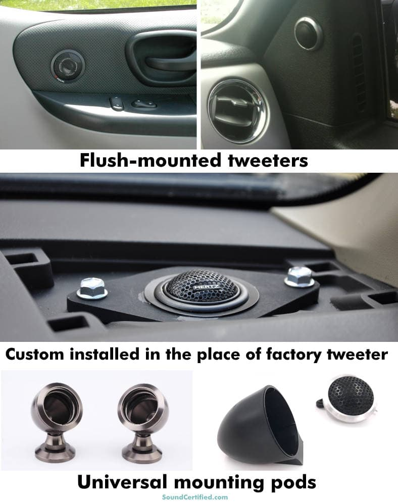 examples of car tweeter installation options