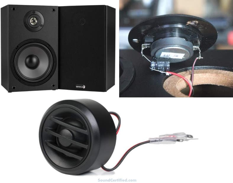 example speakers using crossover frequencies image