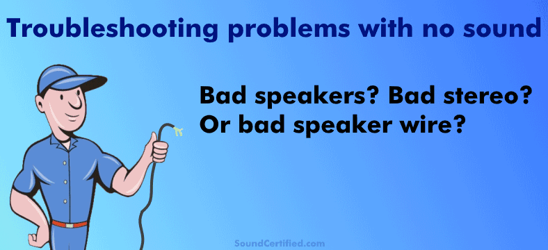 troubleshooting no sound from speakers bad speaker wire section image