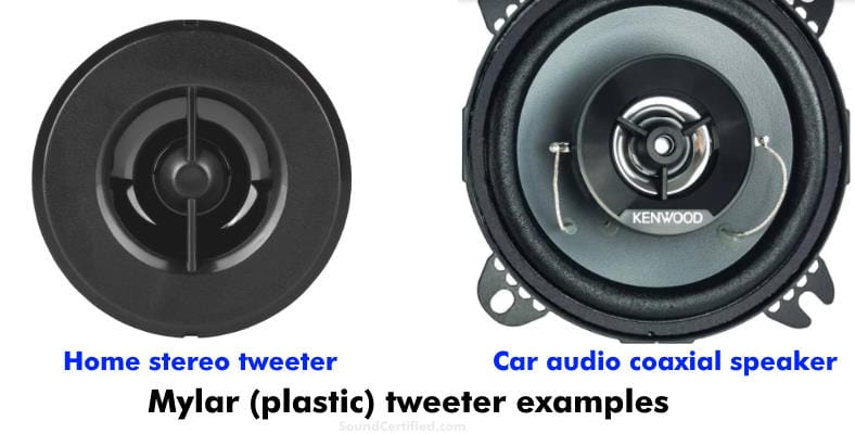image showing examples of Mylar tweeters