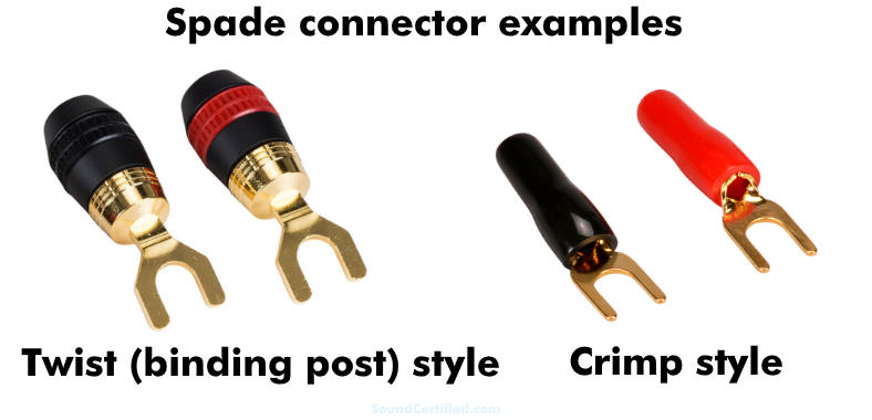examples of spade connectors for speaker wire