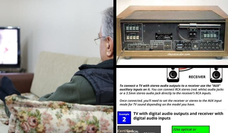 how to connect an old receiver to a new TV article image