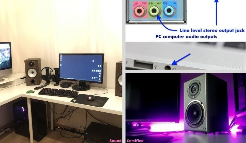 how to connect stereo speakers to computer (main image)