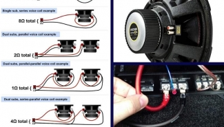 How To Wire A Dual Voice Coil Speaker + Subwoofer Wiring Diagrams